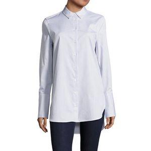 Equipment Arlette Button-Front Stripe Shirt Tunic